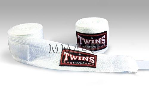 Twins Special Muay Thai Kickbox-Handbandagen, Weiß (Twins Thai Special Muay)