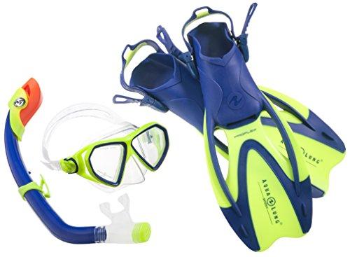 Aqua Lung Sport La Costa Junior Pro Dive Kinder 3er Set (Tauchmaske, Schnorchel & Flossen) inkl. Beutel - 32-35 Blue