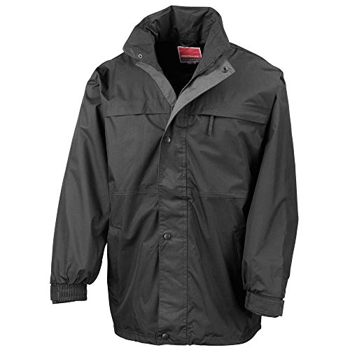 Result Unisex Mens and Womens Winter Multi Function Midweight Waterproof Jacket Black/Grey