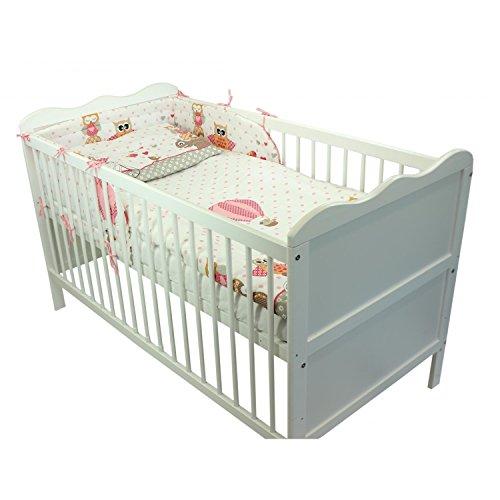 TupTam Baby Bettwäsche mit Nestchen Bettset Gemustert 3-TLG.