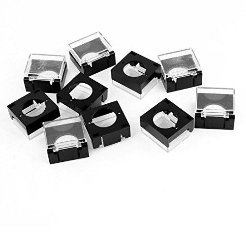 10 Stück Rechteck Kunststoff Removable Lip wasserdichte Schalter Abdeckungen Guards -