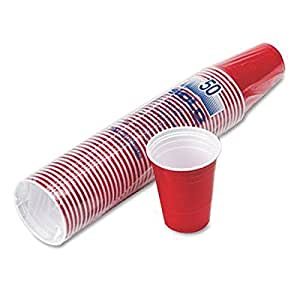 Solo Red American Plastic Party Cups 16oz / 473ml - Pack of 50
