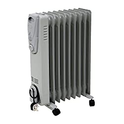 Oypla Electrical 2000w 9 Fin Portable Oil Filled Radiator Electric Heater