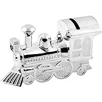 Christening Gifts. Boys Girls. Silver Train Money Box 6289