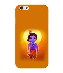 Printtech Lord God Krishna Small Cartoon Shockproof Back Case Cover for Apple iphone 6/6s