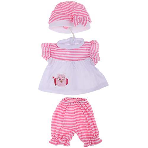 dchen Puppe Kleidung Oberteil Strampler Bekleidung Zubehör Set - # 1 ()