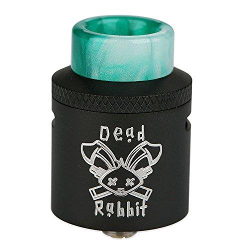 Hellvape Dead Rabbit RDA 24mm Diámetro Cigarrillo Electrónico Reconstruible Atomizador Dead Rabbit Tank Atomizador No Nicotine, No E Liquid (Black)