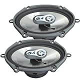 """FLI Audio Integrator 57 5""""x7"""" 5x7 inch 3-Way Ford Car Door Coaxial Speakers"""