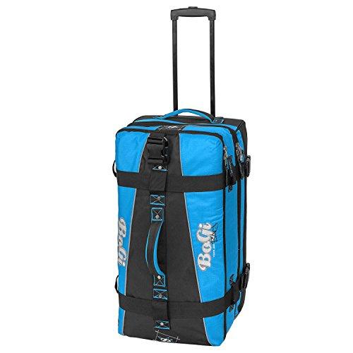 BoGi Bag Reisetasche Rollkoffer Reisekoffer Koffer, 72 cm, 85 L, Blau/Schwarz Preisvergleich