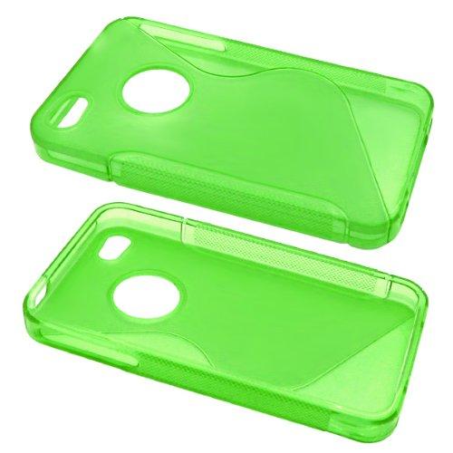 PrimaCase Coque en silicone TPU pour Apple iPhone 4/4S-S Line Vert