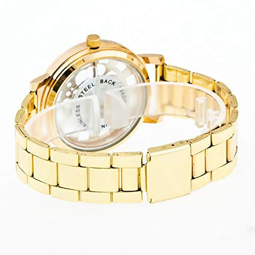 Armbanduhren männer Herrenuhr mit Datum Funktion Herren Luxus Jungen Edelstahl Zeiger Quarz Armbanduhr A Armbanduhr Uhren Armbanduhren Herrenarmbanduh Gold, Gold