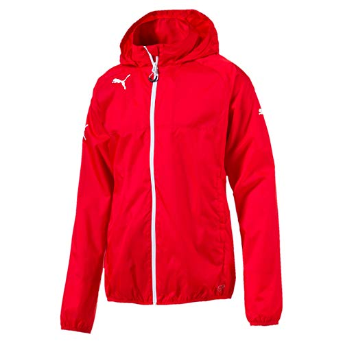 PUMA Kinder Jacke Rain Jacket Regenjacke, Red/White, 140