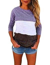 Amazon.es  Morado - Blusas y camisas   Camisetas 7f94856048b46