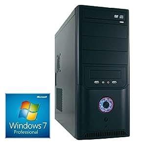 WINDOWS 7 Prof. 64 Bit, PC Intel i5 4440 Quad Core 4x3,1GHz, 500GB sata iii (7200rpm), 8GB DDR3 (1600MHz), Intel HD Grafik (DVI-VGA), 2xUSB 3.0 , 6xUSB 2.0 (2xVorne/4xHinten), AUDIO, DVD Brenner, 420W, computer, rechner, multimedia, pc, desktop