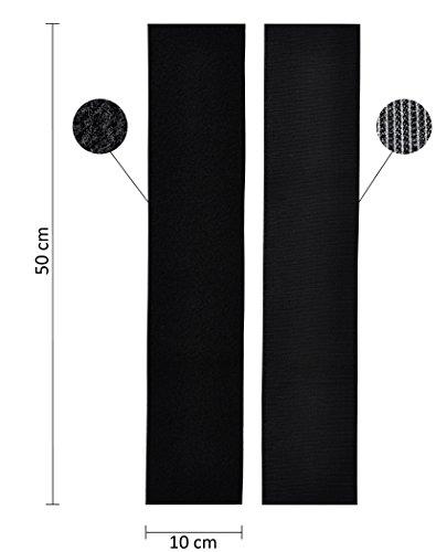2x Kennzeichenhalter-Set rahmenlos Klettband selbstklebend 10 x 50cm   extrem starker und wetterfester Kleber und Klettverschluss