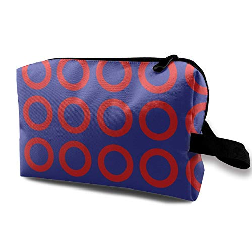 Phish! XXL (Proper Size!) Fabric 1787 Portable Travel Makeup Cosmetic Bags Organizer Multifunction Case Toiletry Bags