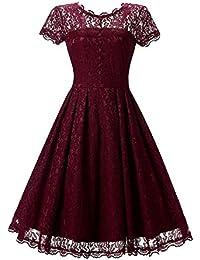2c50427d4de2 Girocollo Vintage Da '50, Donna, Retrò, Senza Anni Spalline, Mode di marca  Senza Maniche, Abito Da Sera,…