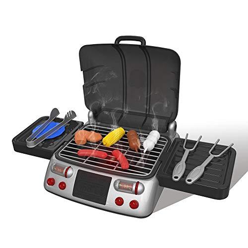 H-Sunshy - Kinder-BBQ-Spielzeug - Rollenspiel-Spielzeug - Tragbarer BBQ-Grill-Spielset Spielzeug-Küche-Spielsets Spaß vorgeben Spiel-Kochsets -