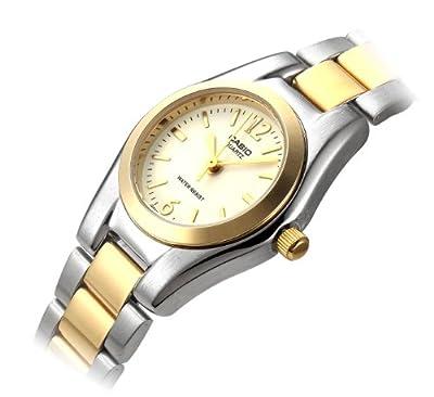 CASIO 19373 LTP-1253SG-7A - Reloj Señora cuarzo brazalete metálico dial blanco
