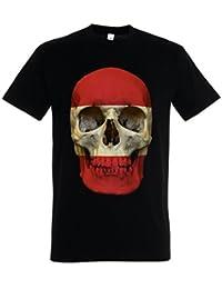 Classic Peru Skull Flag T-Shirt - Bandera cráneo Schädel Banner Fahne PerúT-Shirt