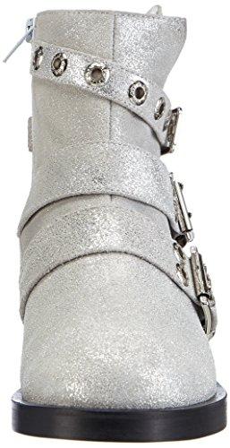 P1 - Detroit, Stivali da motociclista Donna Argento (Argento (Silver))