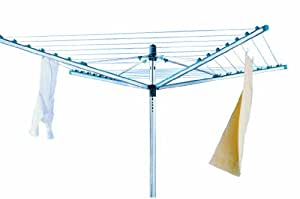 Leifheit 85215 Linomatic 40 m Rotary Clothes Line with Retractable Lines