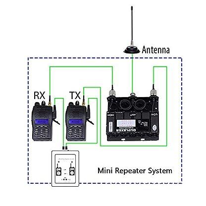 Bewinner-Repeater-Controller-Sr-629-2-in-1-Dualband-Relay-Controller-mit-Funkkabel-fr-Walkie-Talkie-2-Eingnge-und-Ausgnge-Audio-Port