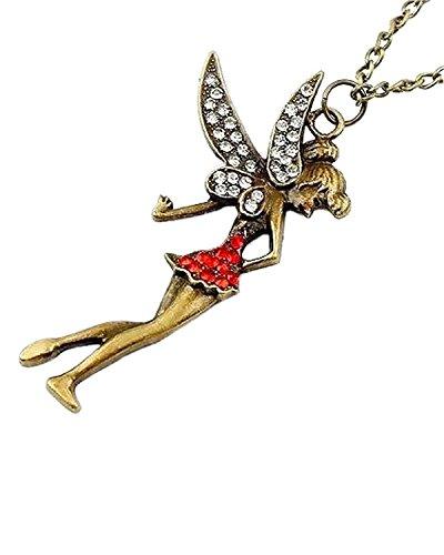 Young & Forever Damen-Halskette Anhänger Tinkerbell Fairytale Gold -