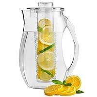 VonShef 2.7L Fruit Infusion Water Pitcher Jug