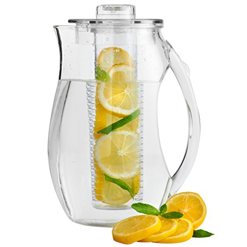 e Plastic Fruit Infusion Pitcher Jug. Infusion Core for Fruit Flavoured Water and Iced Drinks (Kunststoff-getränke-dispenser)