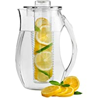 VonShef Fruit Infusion Water Pitcher Jug 2.7L With Ice Core for Flavoured and Infused Water Iced Drinks
