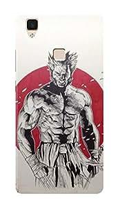 Vivo V3 Black Hard Printed Case Cover by HACHI - Wolverine Logan Fans design