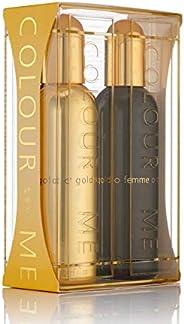 Colour Me Gold Homme Perfumes Eau de Parfum for Women Pack Of 2 190ml