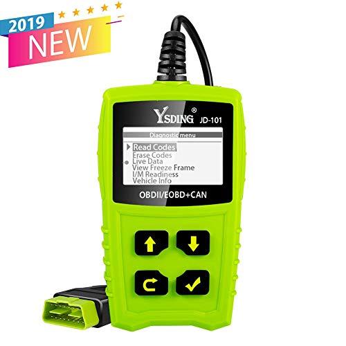 OBD2 Diagnosegerät OBD Code-Scanner-Fahrzeug-Fehlercodeleser arbeitet an allen Autos mit OBD2 / EOBD / CAN-Modi und 16-Pin OBDII-Schnittstelle für Lesen und Löschen Fehlercode und Batterie Test