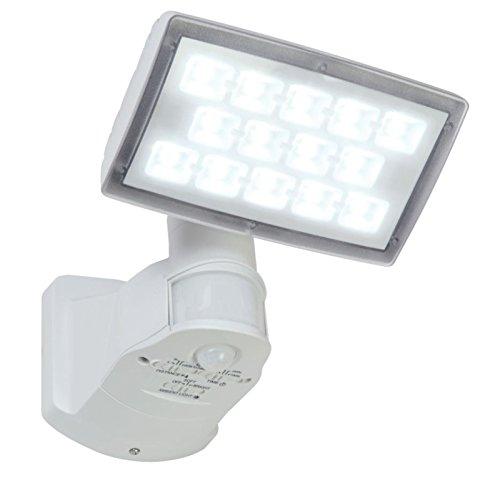 LED Außenleuchte Wandlampe Bewegungsmelder Sicherheitsbeleuchtung Flutlicht Eco-Light Lutec Peri 6295-PIR-5K WH