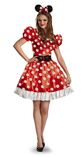 Mickey Mouse Clubhouse Disney Classic Red Minnie Mouse Adult Costume 18-20