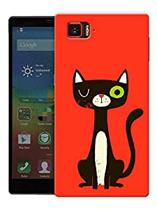 "Humor Gang Meow Kitty Cat Printed Designer Mobile Back Cover For ""Lenovo Vibe Z2 Pro K920"" (3D, Matte Finish, Premium Quality, Protective Snap On Slim Hard Phone Case, Multi Color)"