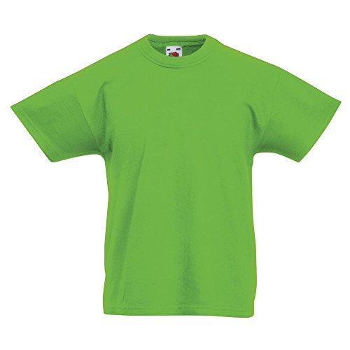 Fruit of the Loom - Kinder T-Shirt 'Kids Original T' / Lime, 152