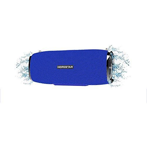 LDJC Mini-Bluetooth-Lautsprecher, tragbarer Lautsprecher Kabelloser wasserdichter Sound der Serie USB-Anschluss zum Aufladen von 8 W hoher Leistung Geeignet für Karnevalsparty, Reisen im Freien,Blue