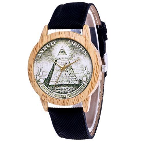 IG Invictus Damen Mode Casual Lederstrap Analog Quarz Runde Uhr Annuit T338 N Quarzuhr Schwarzes Quarz Uhr