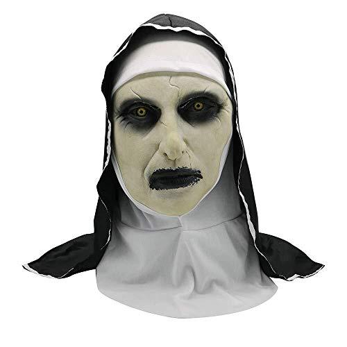 WANG XIN Halloween Maske Scary Conjuring Devil Nonne Horror Masken Latex Kostüm Cosplay Tricky Toy Maske for Beste Halloween Dekoration und gruseligsten Friedhof Szene