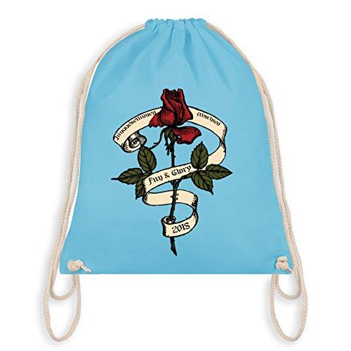 JGA Junggesellinnenabschied - Junggesellinnenabschied 2018 Rockabilly Rose - Turnbeutel I Gym Bag Hellblau