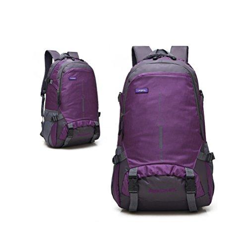 Imagen de vinteky® 45l multifuncional, gran capacidad  impermeable al aire libre  táctica molle acampada camping senderismo deporte backpack de asalto patrull waterproof outdoor travel hiking large camping luggage rucksack backpack bag púrpura