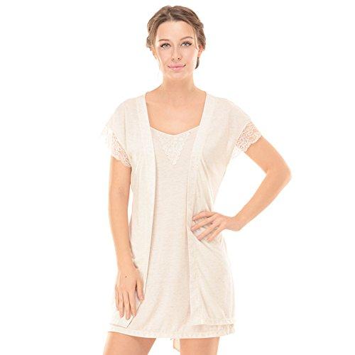 Sommer sexy Frauen Pyjama/ Strick Kurzarm Baumwolle Bademantel und Nachthemd/One-piece-Pyjamas A