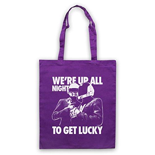 Inspiriert durch Daft Punk Get Lucky Inoffiziell Umhangetaschen Violett