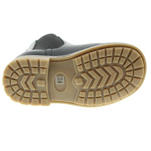EnFant Unisex Kinder Stiefel, Leder, Boots, 815143 Anthrazit