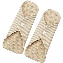 SUPVOX 2 Unids Compresas Almohadillas Menstruales Reutilizables Toallas Sanitarias de Bambú Lavable reutilizables
