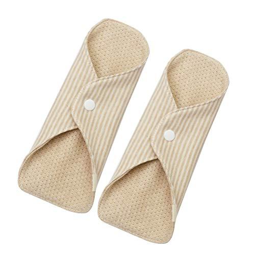 SUPVOX Damenbinden Wiederverwendbar Bambuskohle Menstruation Pads Waschbar Slipeinlagen für Frauen 2 Stück -
