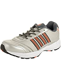 Allen Cooper Men's Silver and Grey Running Shoes