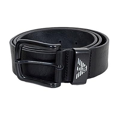 Armani Jeans Mens Black Leather Casual Belt AJM6480